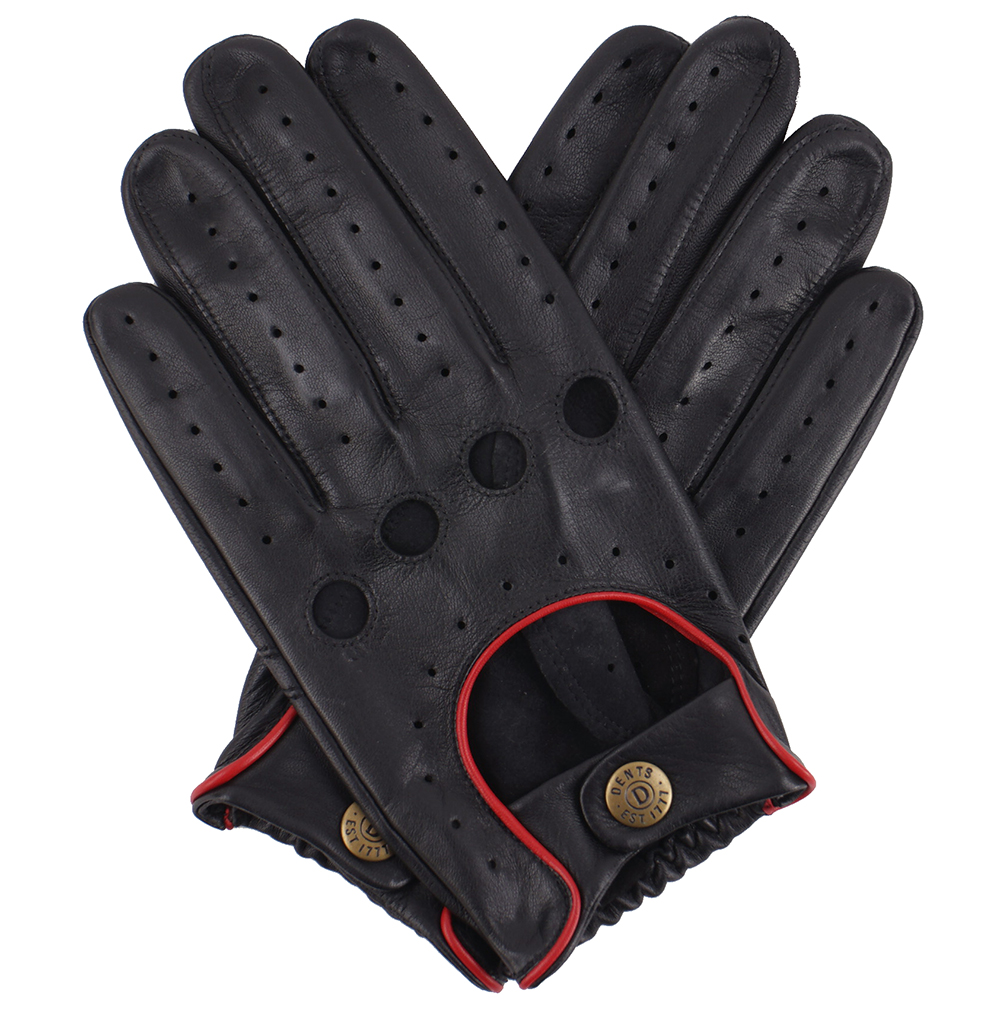 Dents Mens Silverstone Touchscreen Driving Gloves Black