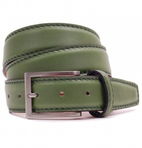 Unisex Highland Green Calf Leather Belt