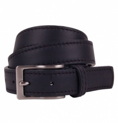 Men's Black Belt - Narrow Full Grain Leather
