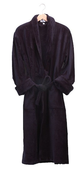 Baron Navy Plush Dressing Gown