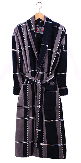 Bown Men's Dressing Gown - Colorado Velours Stripe