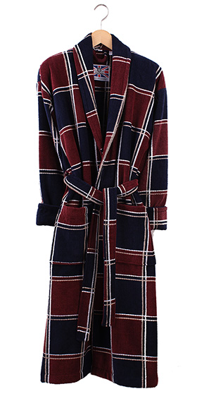 Bown Dressing Gown - Denver Velours Check