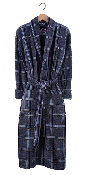 Bown Dressing Gown - Skye Velours Check