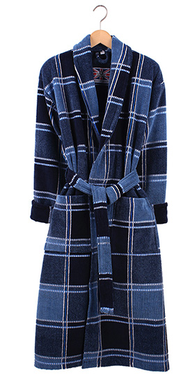 Bown Dressing Gown - Texas Velours Check