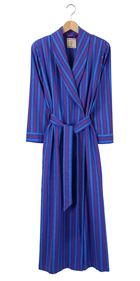 British Boxers Ladies Robe - Jester Stripe