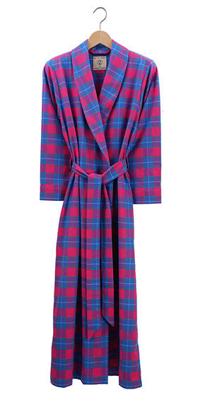 British Boxers Ladies Robe - Pink Tartan
