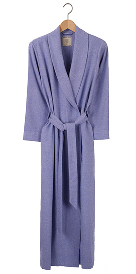 British Boxers Ladies Robe - Staffordshire Blue Herringbone
