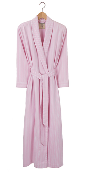 British Boxers Ladies Robe - Pink Westwood Stripe