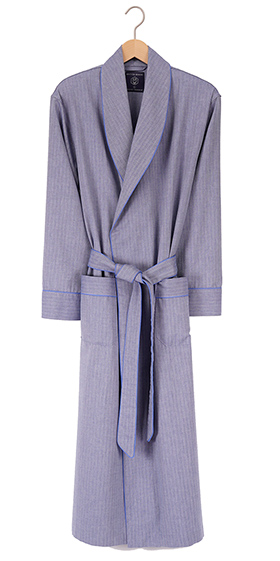 British Boxers Men's Robe - Garrison Blue