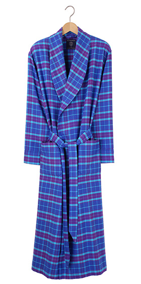 British Boxers Men's Robe - Ultraviolet Flannel