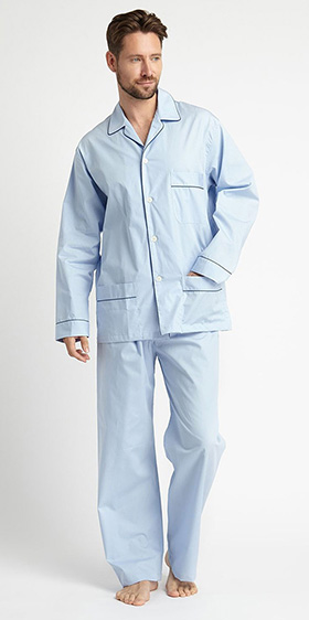 Bonsoir Pyjamas - Sky Blue Cotton Poplin