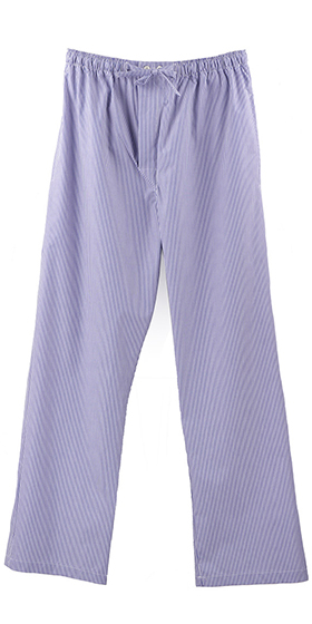 Bonsoir Pyjama Bottoms - Blue and White Fine Stripe