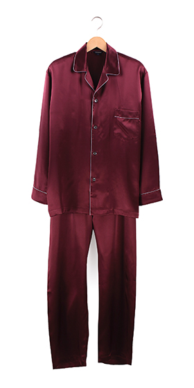 Bonsoir Silk Pyjamas - Bordeaux