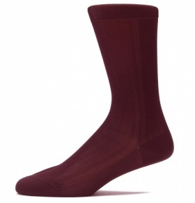 Dark Brown Silk Socks