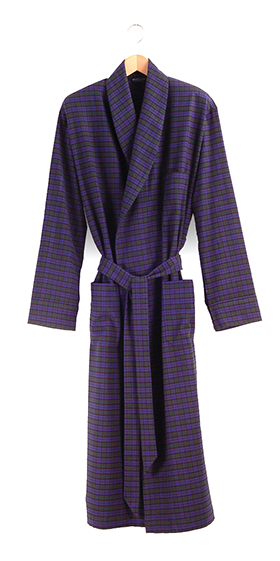Bonsoir Dressing Gown - Black Watch