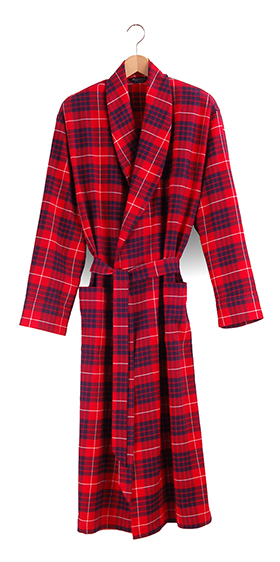 Bonsoir Dressing Gown - Lismore Check
