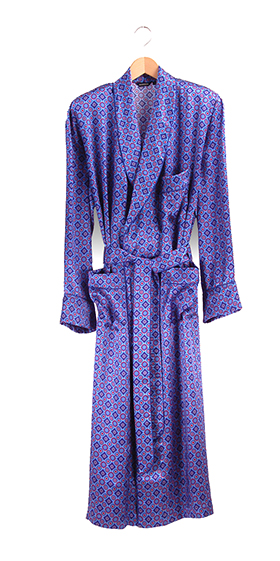 Bonsoir Dressing Gown - Foulard Silk