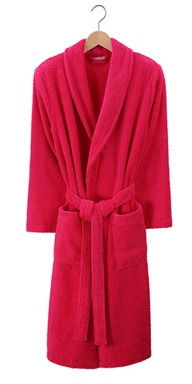 Bonsoir Unisex Towelling Robe - Fuchsia