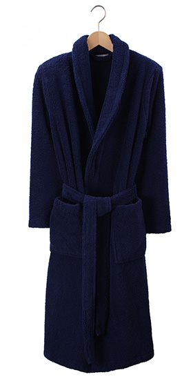 Bonsoir Unisex Towelling Robe - Navy Blue