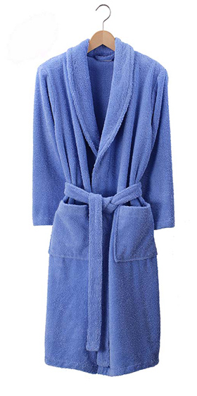 Bonsoir Unisex Towelling Robe - Sky Blue
