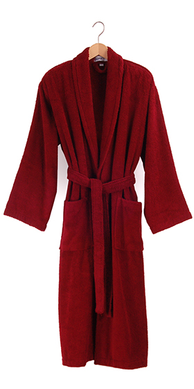 Bown Men's Terry Dressing Gown Burgundy