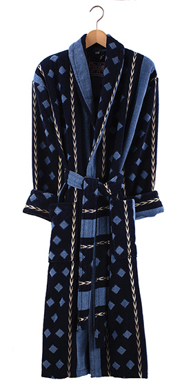 Bown Dressing Gown - Cromer Velours Stripe