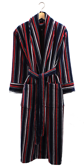 Bown Gold Label Dressing Gown - Singapore Stripe