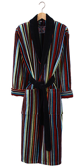 Bown Mens Dressing Gown - Dundee Velours Stripe