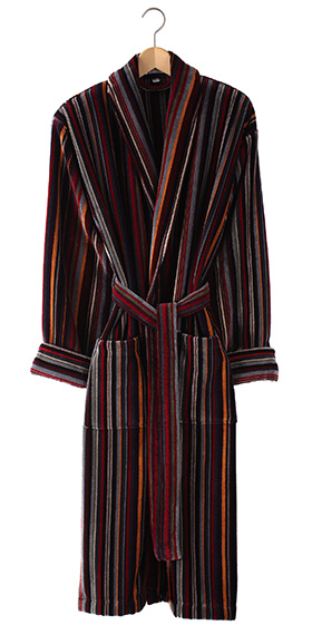 Bown Dressing Gown - Geneva Velours Stripe