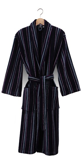 Bown Dressing Gown - Brixham Velours Stripe