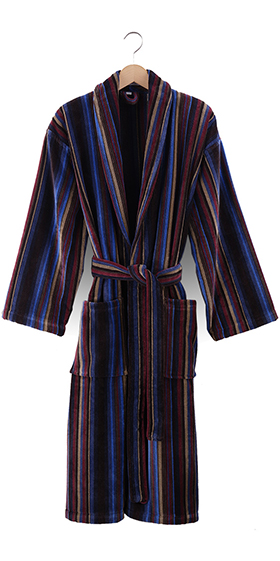 Bown Dressing Gown - Bruges Velours Stripe