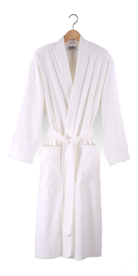 Cawö Unisex Fine Terry Bath Robe - White