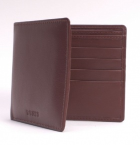 Dents Leather Billfold Wallet - Chocolate Brown