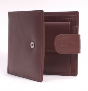 English Tan Leather Tab-Close Wallet