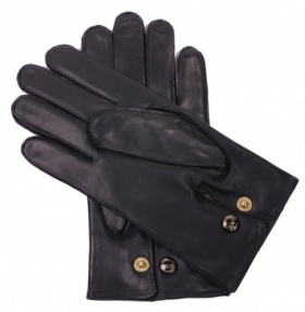 Men's Wool Lined Black Nappa Gloves