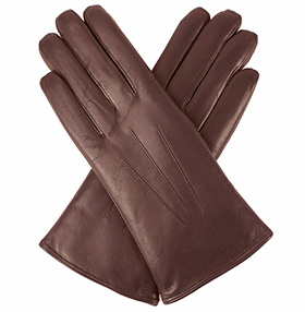 Dents Ripley - Ladies Fur-lined Leather Gloves - Mocca