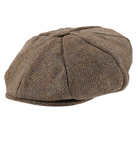 Dents English Tweed 8-Piece Cap - Spruce