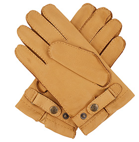 Men's Deerskin Gloves - Cashmere Lined - Cork