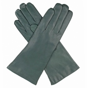 Dents Ladies Cashmere Lined Leather Gloves - Evergreen