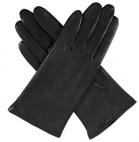 Dents Isabelle Ladies Black Leather Gloves - Cashmere Lining