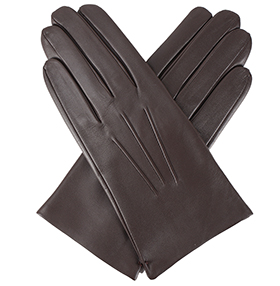 Dents Men's Leather Gloves - Bath - Brown