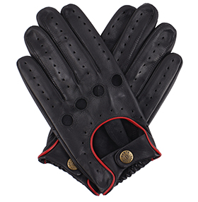Dents Silverstone Touchscreen Driving Gloves - Black/Red