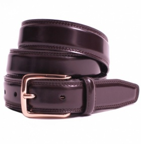 Plain Brown Leather Classic 30mm Belt by Dents