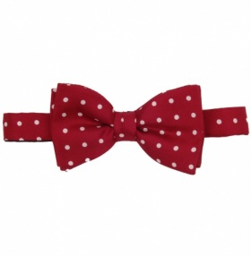Fort & Stone Ready Tied Bow-Tie - Burgundy Polkadot