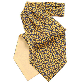 Fort & Stone Silk Cravat - Yellow Mini Paisley