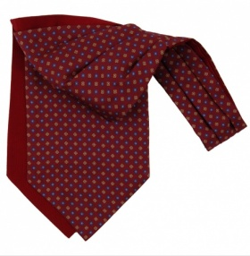 Fort & Stone Silk Cravat - Maroon Neats