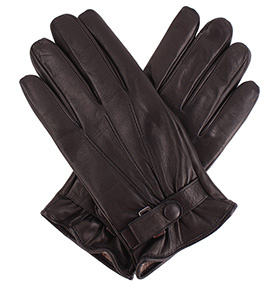 Men's Glove with Wrist Strap - Black