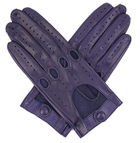 Tom Dick & Harry Womens Leather Driving Gloves - Navy