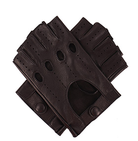 Tom Dick and Harry Men's Fingerless Driving Gloves - Black