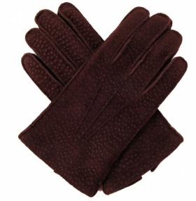 Men's Carpincho Leather Gloves - Brown